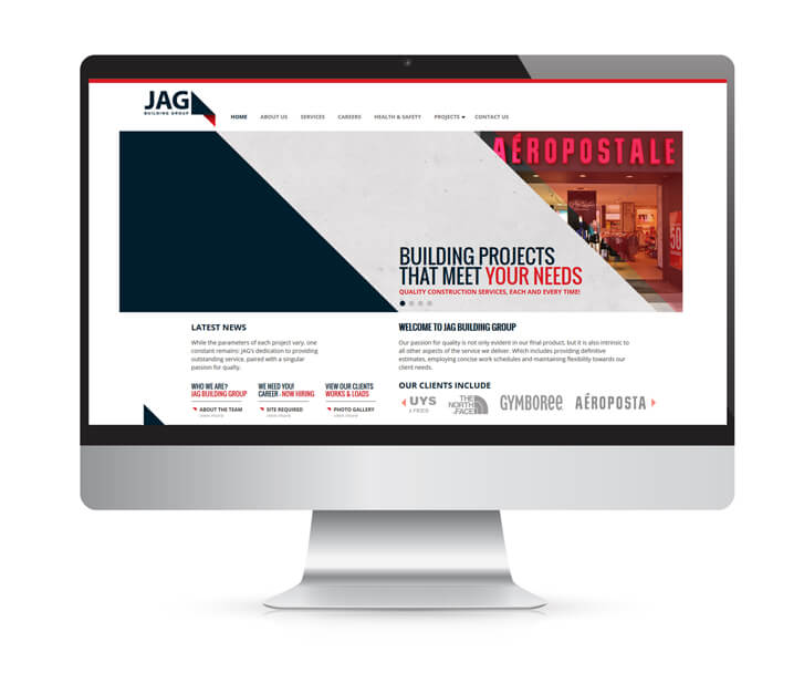 Website design for JAG